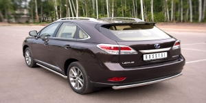 Lexus RX270/350/450 защита заднего бампера d63 (дуга) LRXZ-000409
